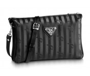 Maison Mollerus Vinerus Black Clutch / Crossover, Gland Silber