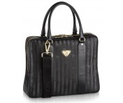 Maison Mollerus Vinerus Schwarz Business Bag, Siat gold