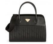 Maison Mollerus Vinerus Black Handtasche, Yvorne Gold