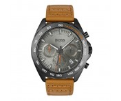 Hugo Boss Herren Uhr Intensity Leder braun, 1513664