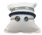 Guess Set mit drei Armbänder Silber / Blau, 20200