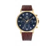 Tommy Hilfiger Herren Uhr Daniel- Dressed Up Leder Braun, 1710380