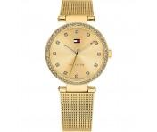 Tommy Hilfiger Damen Uhr Mesharmband Edelstahl gold, 1781864