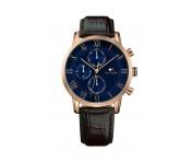 Tommy Hilfiger Herren Uhr Leder braun, 1791399