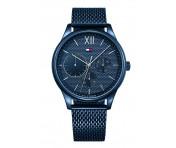 Tommy Hilfiger Herren Uhr Edelstahl blau metallic, 1791421