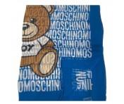 Boutique Moschino Tuch All Over Print, Blau