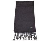 Lacoste Woll-Schal mit Fransen RE3140 grau