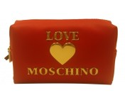 Love Moschino Kosmetiktasche, Rot