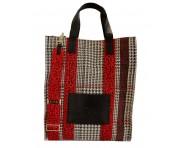 Codello Shopper High Dogtooth Checks, Schwarz 02091111