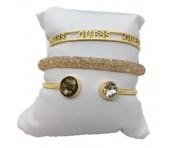 Guess Set mit drei Armbänder Gold, 20206