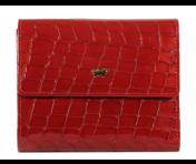 Braun Büffel Geldbörse Verona Glanzkroko Rot, 40144