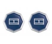 Tommy Hilfiger Manschettenknöpfe Edelstahl silber/blau, 2790042