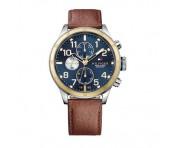 Tommy Hilfiger Herren Uhr Leder braun, 1791137