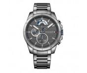 Tommy Hilfiger Herren Uhr Edelstahl grau, 1791347