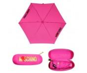 "Moschino Taschenschirm ""Heart Logo"" Supermini Automatik, Pink"