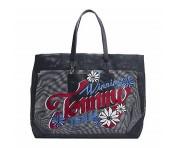 Tommy Hilfiger Tote Bag mit Blumenprint, Blau