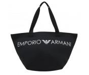 Emporio Armani Badetasche / Strandtasche, Schwarz 262886