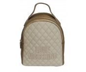 Love Moschino Rucksack, Metallic Gold / Beige