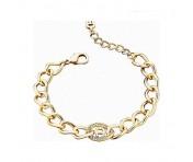 Aigner Armband mit Kristallen, gold, A67066