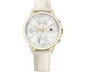 Tommy Hilfiger Damen Uhr Leder weiß, 1781790