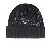 Codello Mütze mit Pailletten, Schwarz 92118314