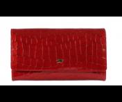 Braun Büffel Geldbörse Verona Glanzkroko Rot, 40152