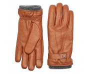 Tommy Hilfiger Touchscreen-Lederhandschuhe, Cognac