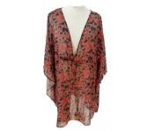 Emporio Armani Bluse mit Blumenmuster, Rot mit Muster 262505 Größe L