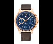 Tommy Hilfiger Herren Uhr Leder braun, 1791532