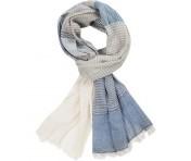 Codello Sommer Schal blau/grau gestreift, 81026502