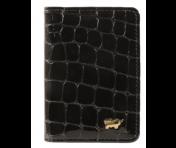 Braun Büffel Kreditkartenetui Verona Glanzkroko Schwarz, 40400