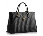 Maison Mollerus Vinerus Black Kurzgriff-Shopper, Umiken gold