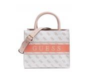 Guess Handtasche Monique Mini Weiß Multi