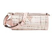 Guess Umhängetasche / Roll Bag Manhatten Pink Tweed