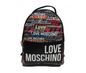 Love Moschino Rucksack Digital Print, Schwarz / Multicolor