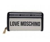 Love Moschino Lederportemonnaie groß, Weiß