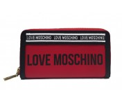 Love Moschino Lederportemonnaie groß, Rot