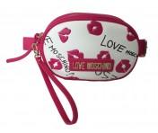 Love Moschino Bauchtasche / Gürteltasche Digital Print, Weiß / Pink