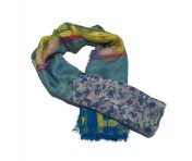 Boutique Moschino Schal, Blau / gemustert