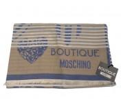 Boutique Moschino Schal, Beige / gestreift