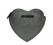 Love Moschino Geldbörse Herzförmig, Anthrazit