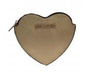 Love Moschino Geldbörse Herzförmig, Gold