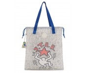 """Kipling Beuteltasche New Hiphurray """"by Keith Haring"""", KH Clear"""