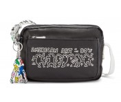 "Kipling Schultertasche Abanu ""by Keith Haring"", KH Chalk"