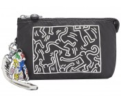 "Kipling Clutch / Kosmetiktasche Creativity XL ""by Keith Haring"", KH Chalk"