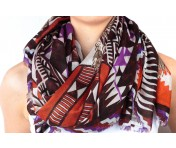 Loup Noir Tuch Natives, purple/red