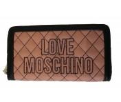 Love Moschino Portemonnaie groß, Rosé / Schwarz
