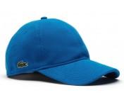Lacoste Basic Cap RK 0123, Baumwoll-Piqué blau