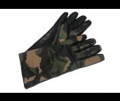 Boutique Moschino Lederhandschuhe, Camouflage Größe 7,5