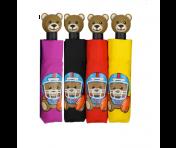 "Moschino Taschenschirm ""US Football Bear"" Mini Automatik"